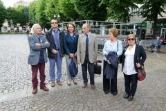 10 i Presidente del Rivoli Host e del Rivoli Castello con l'artista, i referenti del Service e l'assessore all'istruzione
